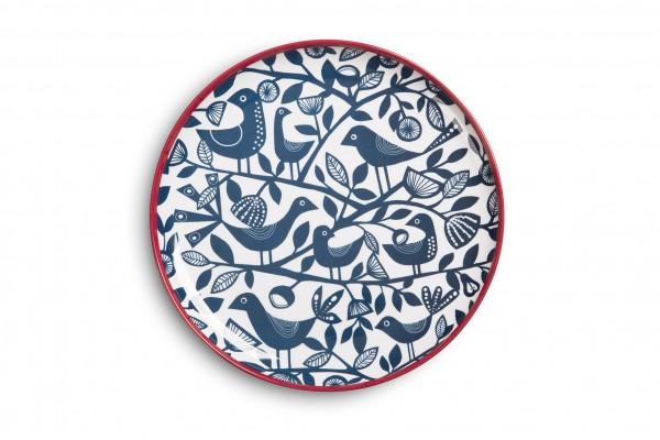 Melamine Plate 23cm, DOVES BLUE