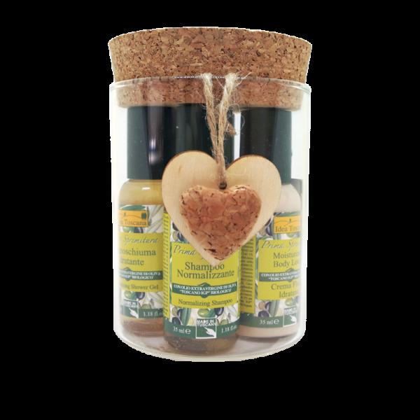 Beauty Routine box : Glass jar with 4x35 ml