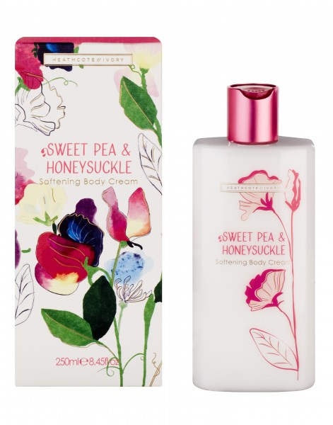 Softening Body Cream 250ml, Sweet Pea & Honeysuckle