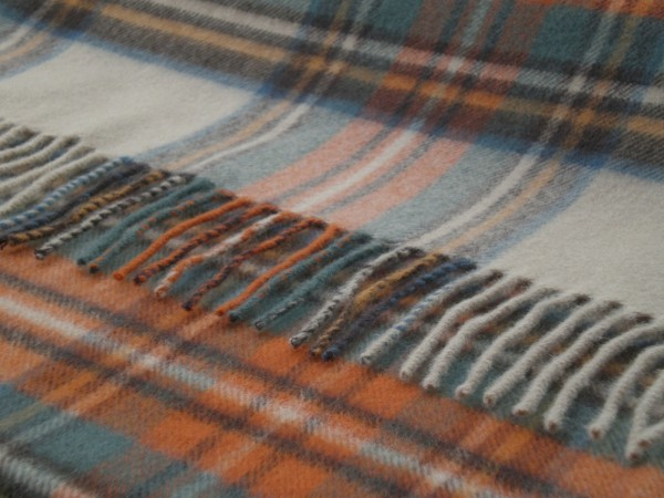 Merino-Decke - TARTAN Antique Dress Stewart, 140 x 185 cm