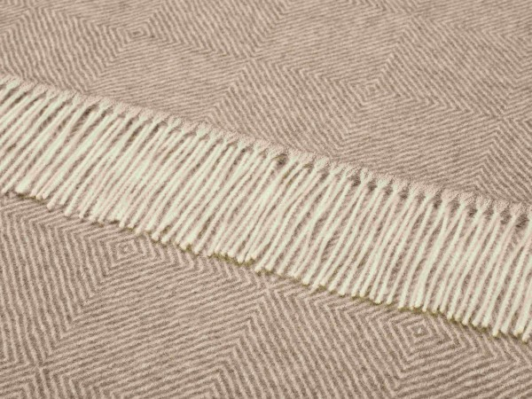 Alpaca-Decke, Herringbone - Natural Brown 130 x 200 cm