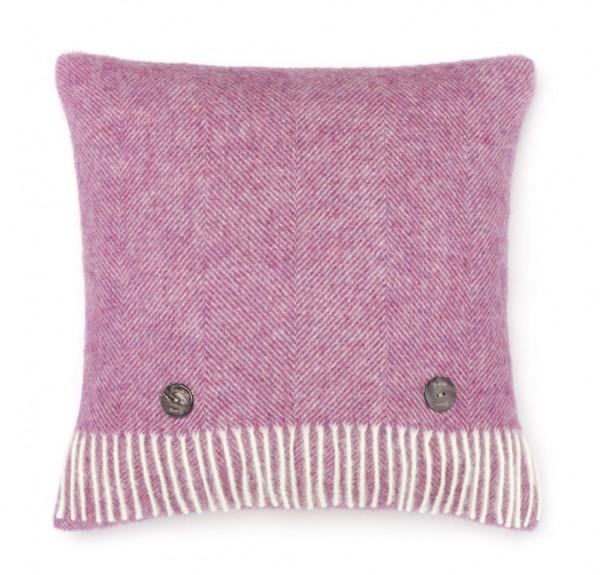 Shetland-Kissen HERRINGBONE - Pink 40 x 40cm