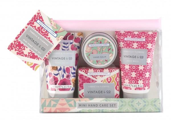 VINTAGE FABRIC & FLOWERS, Mini Hand Care Set