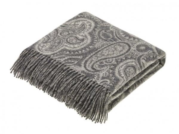 Merino-Decke PAISLEY Grey 130 x 205 cm